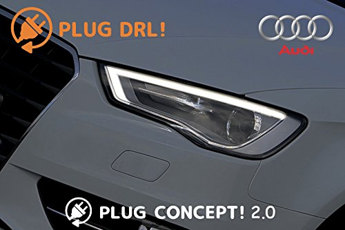 PLUG DRL! デイライト AUDI アウディ リカバリーモード搭載 A1 A3 A4 A5 A6 A7 A8 Q3 Q5 Q7 R8 TT 簡単設定