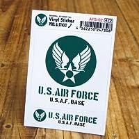 ステッカーセット US AIR FORCE アメリカ空軍 グリーン_SC-AFS02-GEN