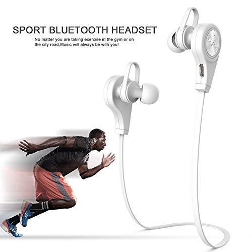 Bluetoothヘッドフォン、elecfan 2016新しいワイヤレスv4 . 1イヤin-耳イヤホンスポーツランニングジムSwea...