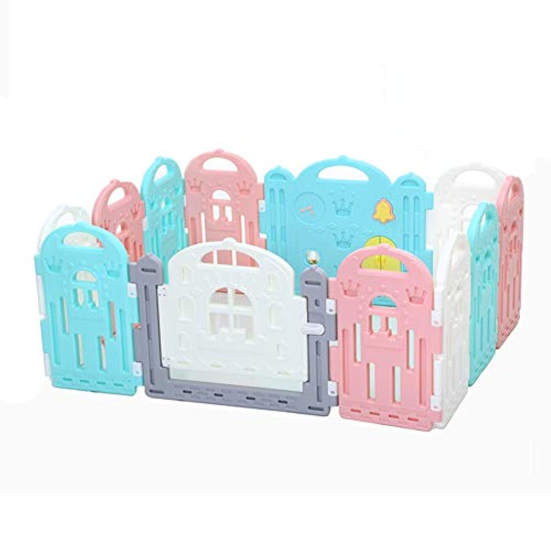 ベビーサークル 赤ちゃん遊び場屋内ポータブルプレイヤード子供のゲームフェンスドアとキャリーケース子供安全保護活動センター (サイズ さいず : 10X single film)
