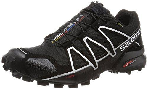 [サロモン] トレイルランニングシューズ SPEEDCROSS 4 GTX L38318100  BLACK/ BLACK/ SILVER METALLIC-X 25