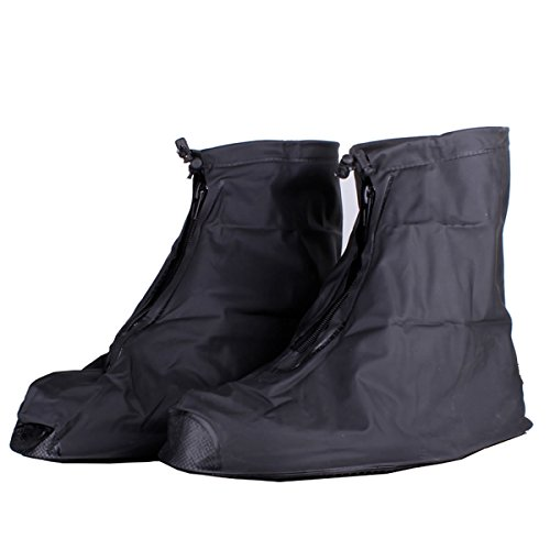 ZooooM 豪雨 対策 シューズ ガード 靴 バイク スクーター 雨 具 カッパ 台風 足 防滴 浸水 ゲリラ 災害 水たまり レイン コート 梅雨 天候 クツ オシャレ お洒落 ファッション 仕事 作業 ワーク (XXLサイズ) ZM-AMESITA-XXL
