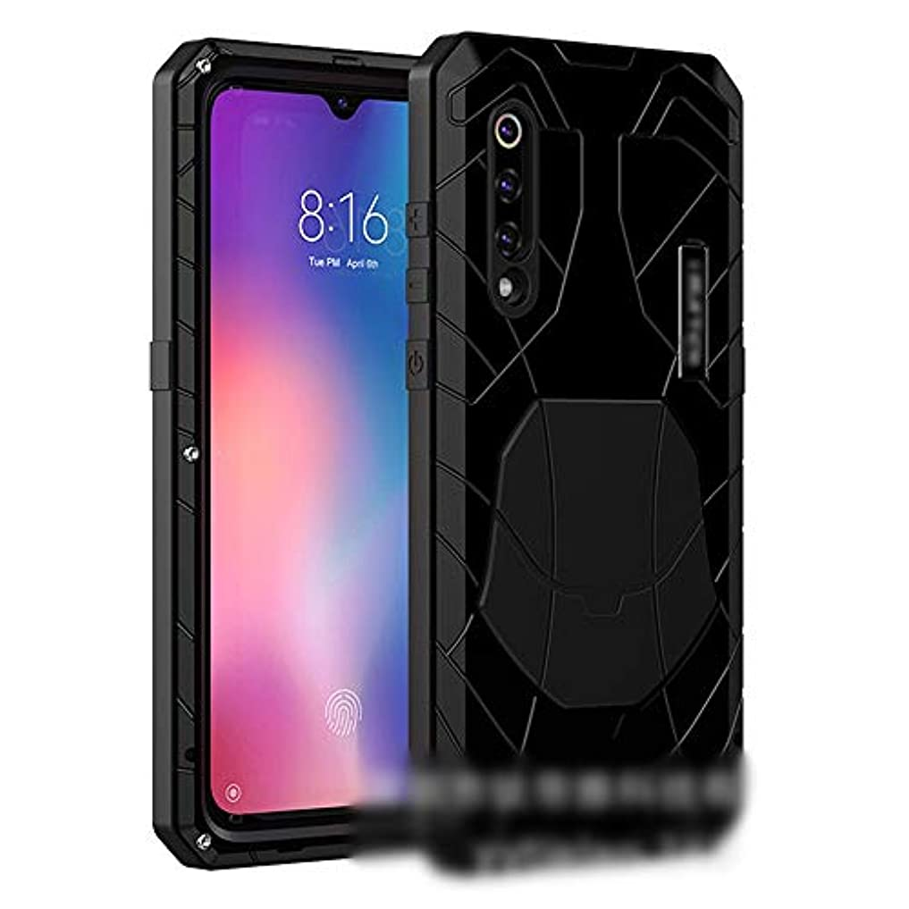 こっそり比類なき任命するTonglilili Xiaomi Max3のための3つの反携帯電話の貝の金属の低下の保護袖の電話箱、組合せ、9max、2,8、mix2s、mix2、 (Color : 黒, Edition : 9)
