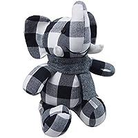 Lovely 10-inch白黒100 %タイコットン象ソフトおもちゃ