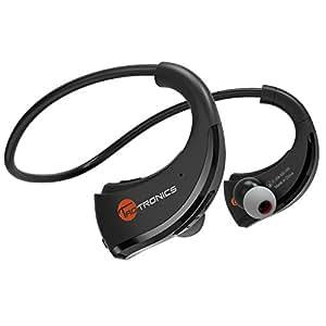 Bluetooth イヤホン TaoTronics ワイヤレスステレオスポーツ イヤホン 防汗 ランニング等のスポーツ カナル型ヘッドホン ヘッドセット(APTX、再生時間8時間、マイク内蔵、CVC6.0ノイズキャンセリング、人間工学に基づいたヘッドデザインを採用) TT-BH09