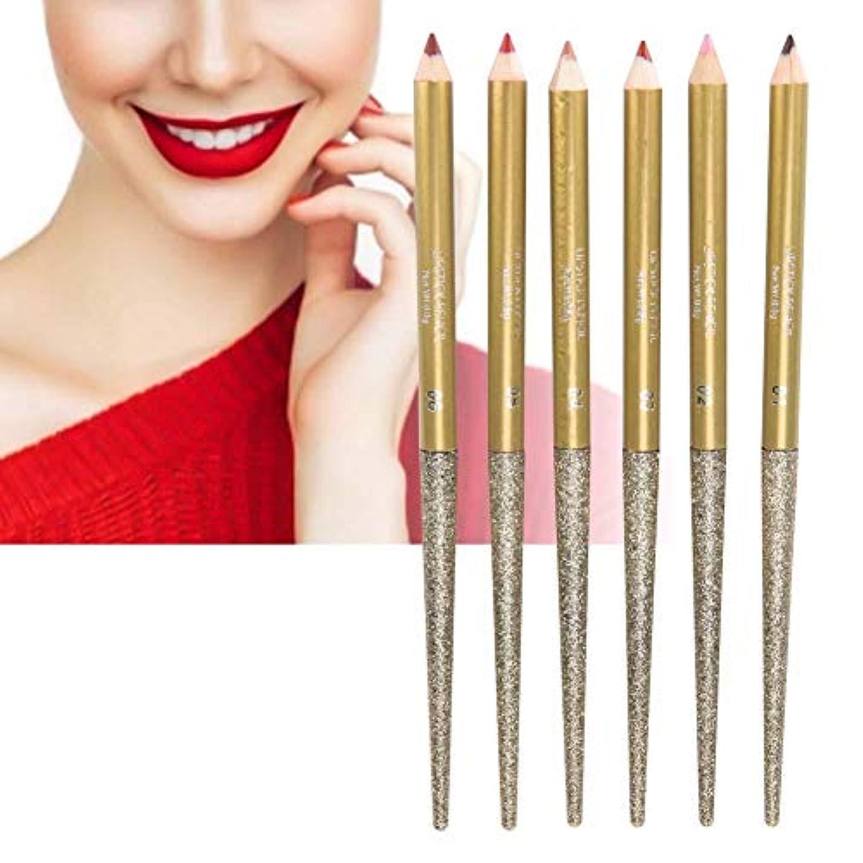 長続き マット 防水 滑らか 唇はさみ 金の構造の口紅の耐久の口紅のペン