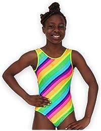 Pelle Girls ' Rainbow Sparkle体操レオタード