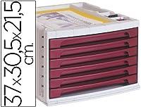 Q-CONNECT kf18433 - ファイル引き出しデスク、37 x 30.5 x 21.5 cm、カラーボルドーマット