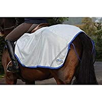 (ウェザビータ) Weatherbeeta 馬用 600デニール/メッシュ エクササイズシート 馬着 乗馬 ホースライディング (XS) (シルバー/シルバー)