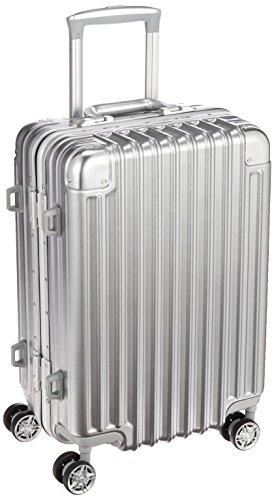 [トライデント] スーツケース ハードフレームケース アルミ調 シフレ 1年保証 機内持込可 保証付 33L 48cm 3.8kg TRI1030-48 シルバー シルバー