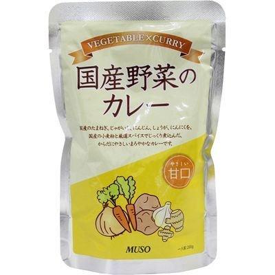 ムソー 国産野菜のカレー 甘口 200g
