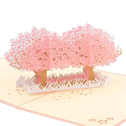 桜のグリーティングカード メッセージカード 誕生日カード 感謝状 封筒付き