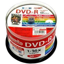 磁気研究所 HI DISK DVD-R CPRM対応 デジタル録画用 16倍速 4.7GB ワイドエリアホワイトプリンタブル スピンドルケース 50枚 HDDR12JCP50
