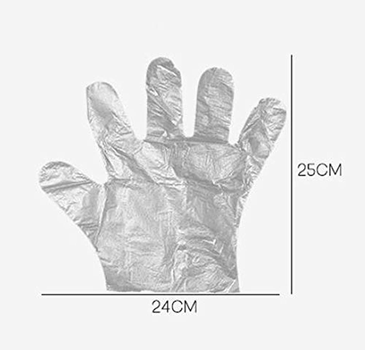 シンク衣類露HJ 使い捨て手袋 ポリエチレン使い切り手袋 極薄い ポリ手袋 使い切り手袋 透明手袋 耐油 防水 介護 トイレ掃除 左右兼用 手荒れを防ぎ 素手 薄いタイプ (200ペアセット)