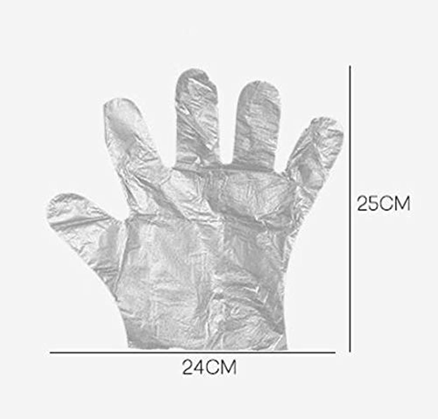 適度に予測子子犬HJ 使い捨て手袋 ポリエチレン使い切り手袋 極薄い ポリ手袋 使い切り手袋 透明手袋 耐油 防水 介護 トイレ掃除 左右兼用 手荒れを防ぎ 素手 薄いタイプ (200ペアセット)