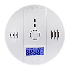Perfectgoing 一酸化炭素 アラーム LEDライト 液晶 チェッカー センサー 警報機 警報器 検知器 キャンプ テント 車 キッチン 寝室 部屋 用 壁掛け 天井
