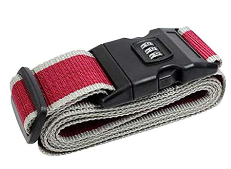 冬妻マイル[C] 調整可能な荷物ストラップトラベルスーツケースコンビネーションロック付きパッキングベルト