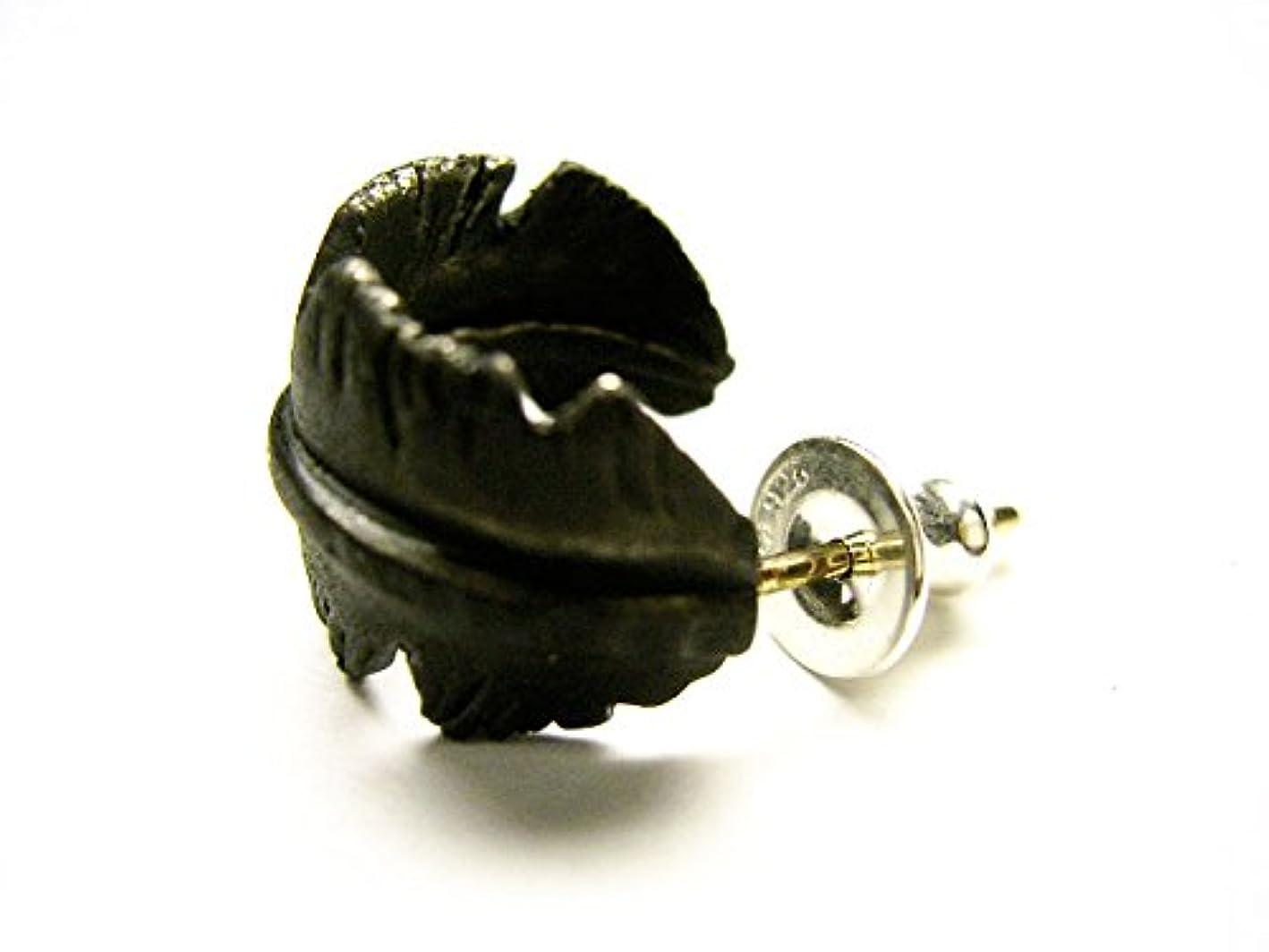 クリスチャンカラス許可するVIVIFY ビビファイ ピアス シルバーBlack Feather Pierce Silver/Brass (ONE SIZE)