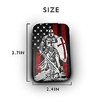 テンプル騎士団の十字軍戦士 携帯ミラー 手鏡 化粧鏡 ミニ化粧鏡 3倍拡大鏡+等倍鏡 両面化粧鏡 角型 携帯型 折り畳み式 コンパクト鏡 外出に 持ち運び便利 超軽量 おしゃれ 9.8X6.6CM