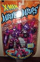 SENTINEL TEST ROBOT with Wet Jet Cannon * Water Wars Series * 1997 Marvel Comics X-Men Action Figure & Accessories