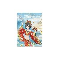 キャンバス印刷Japanese Art Geisha Girl現代壁アートホームルームオフィス装飾( 12x 16インチ用)