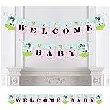 Bigドットの幸せの全体Llama Fun – Llamaフィエスタベビーシャワーホオジロバナー – パーティーデコレーション – Welcome Baby