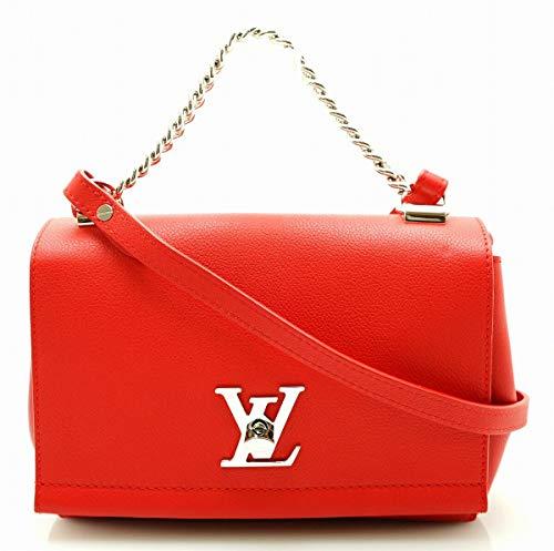 [ルイ ヴィトン] LOUIS VUITTON ロックミーII BB チェーン ハンドバッグ ショルダーバッグ 2WAY 斜め掛けショルダー ルビー レッド 赤 M51202