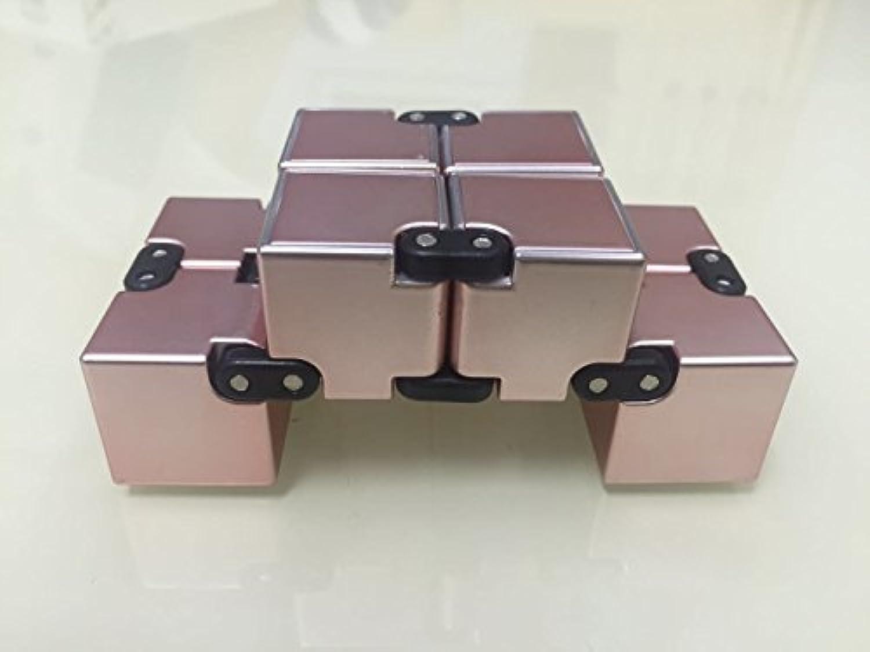 Laxative Infinity Cubeで大人と子供たちのおもちゃのためのストレスに適した贅沢なおかしいミニ(ローズ金)