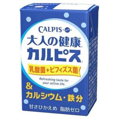 エルビー 大人の健康・カルピス 乳酸菌+ビフィズス菌&カルシウム・鉄分 125ml×24本