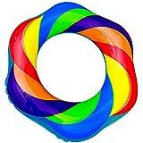 Bidason 虹うきわ カラーワールチューブ 浮き輪 レインボー フロート 60cm-90cm