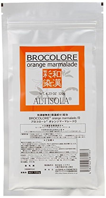 芸術順応性理容師グランデックス 和漢彩染 ブロコローレ オレンジマーマレード 120g