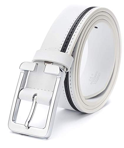 (ユニグランド)Unigrand ベルト メンズ 革 ピンバックル カジュアル レザー (ホワイト)