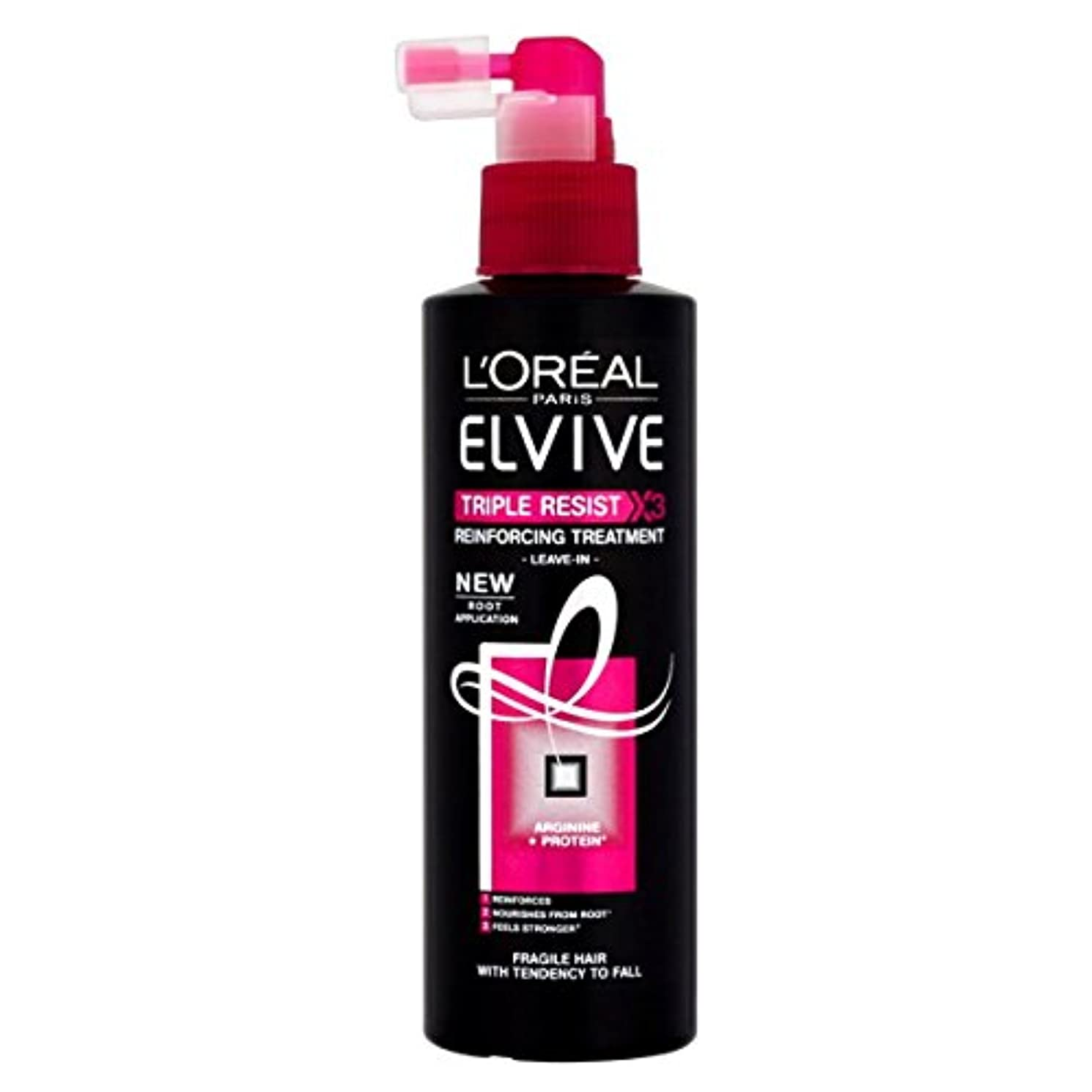 桃兄弟愛ソフトウェアL 'Oréal Paris Elvive Triple Resist Leave-In verstärkendem Treatment 200 ml