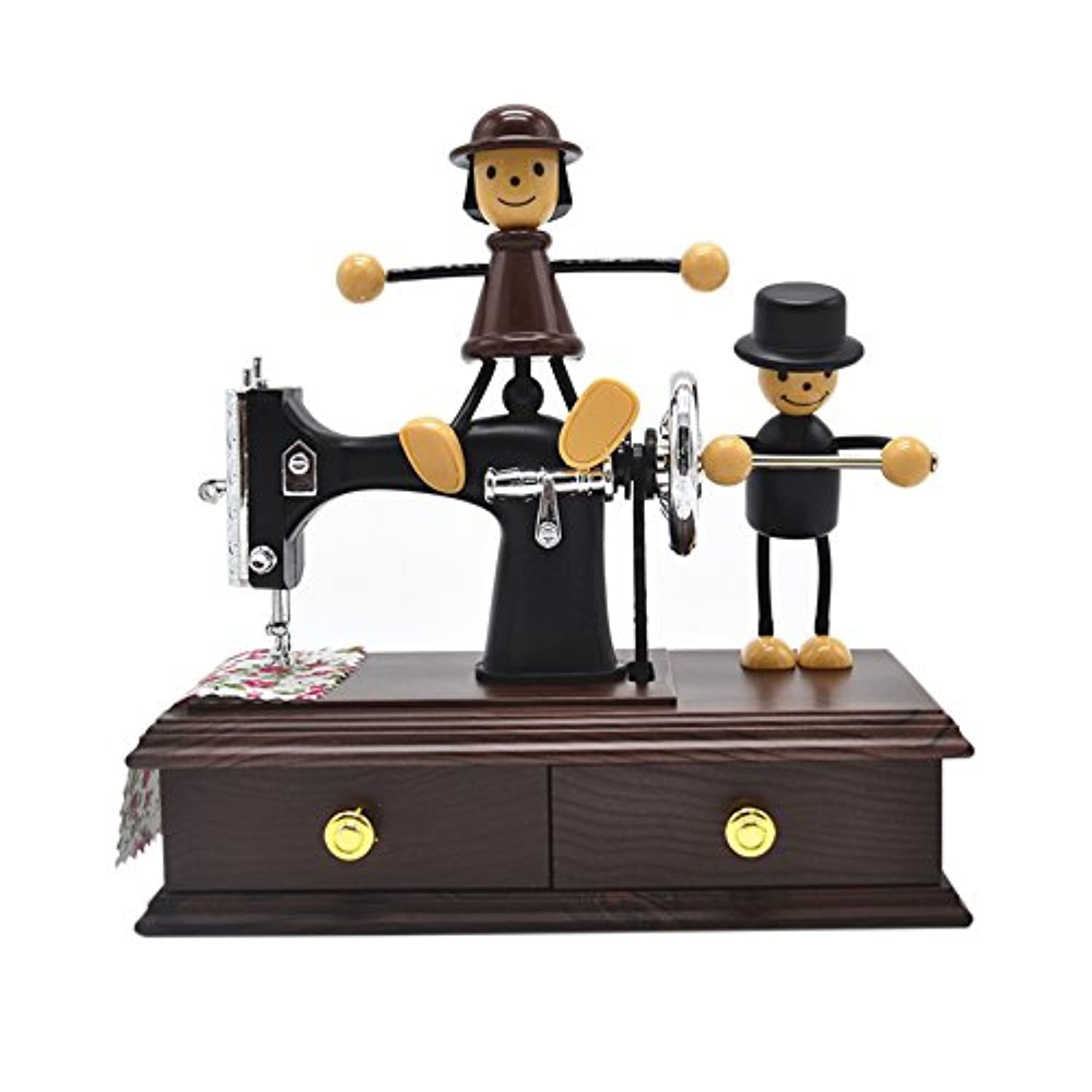 anlydia Cute Lovers Sewing MachineデザインTrinket音楽ボックスギフトforクリスマス