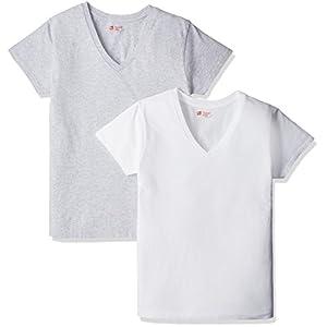 (ヘインズ) Hanes Tシャツ ジャパンフィット FOR HER Vネック 2枚組 アソート HW5125 997 アソート L [レディース]