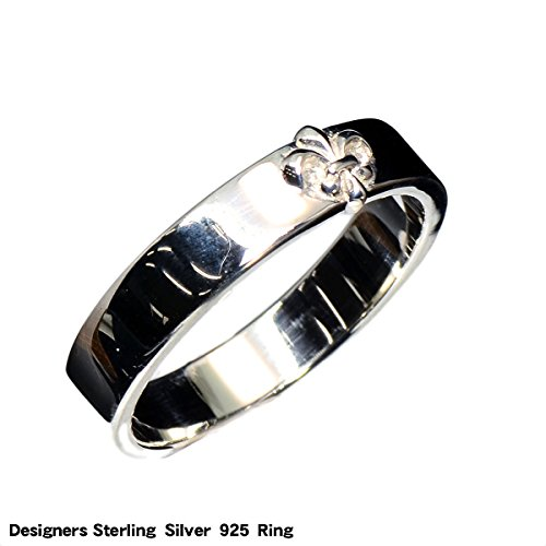 【BLUE GEMS】 シルバー リング 指輪 クロス フレア 紋章 ユニ ;AMTHKR-025-19