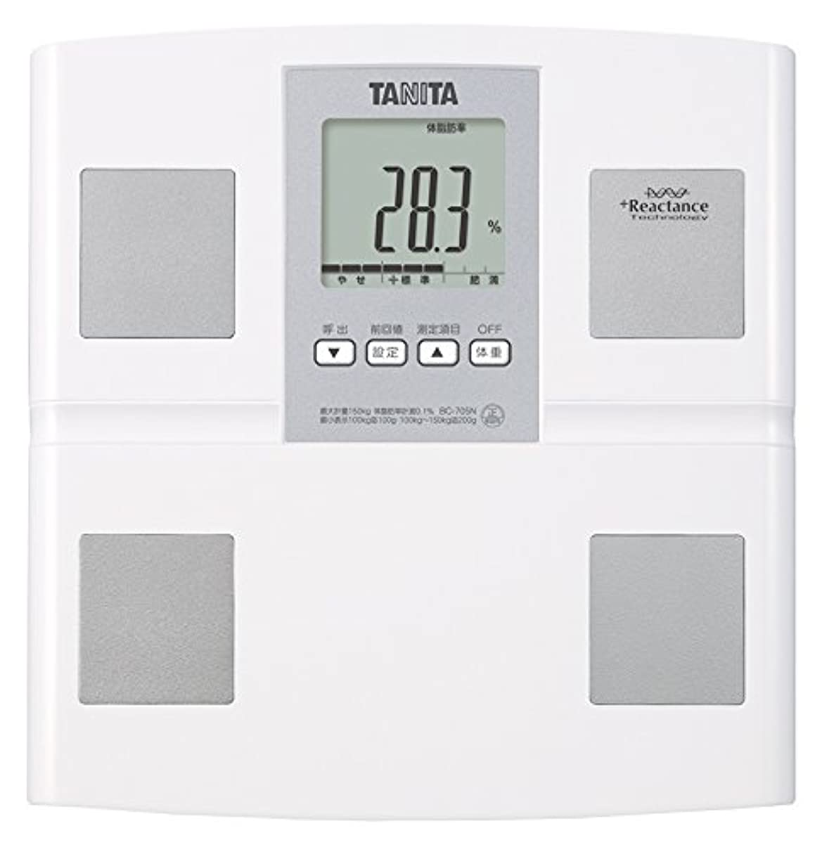 アルコール計器商人タニタ 体重 体組成計 日本製 BC-705N WH 自動認識機能付き/測定者をピタリと当てる