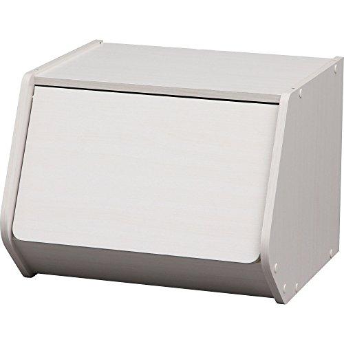 アイリスオーヤマ スタック ボックス 扉付き 幅40×奥行38.8×高さ30.5cm オフホワイト STB-400D