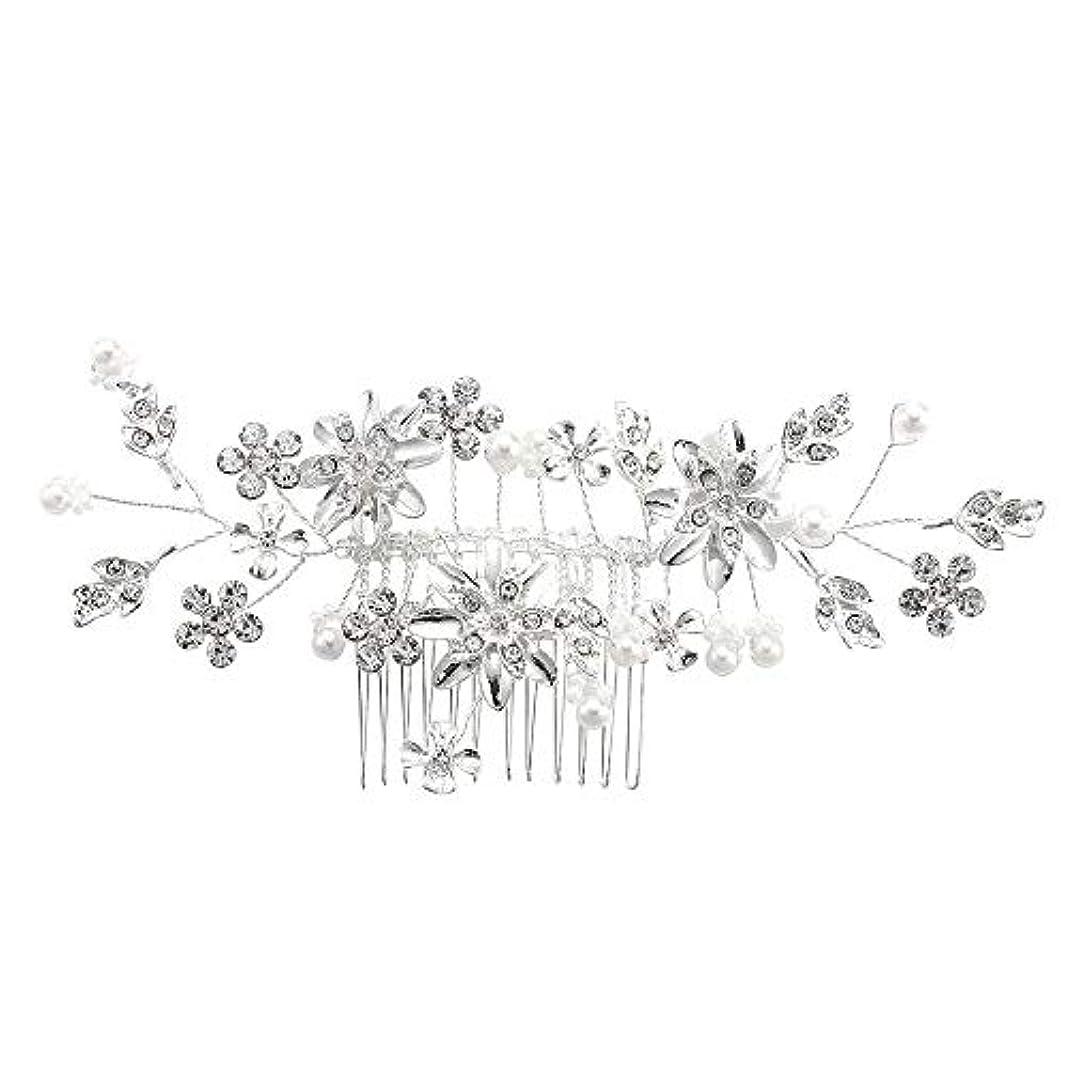 長椅子ハングスピン髪の櫛、櫛、合金、ラインストーンの櫛、真珠の髪の櫛、ブライダル髪の櫛、結婚式の髪の櫛