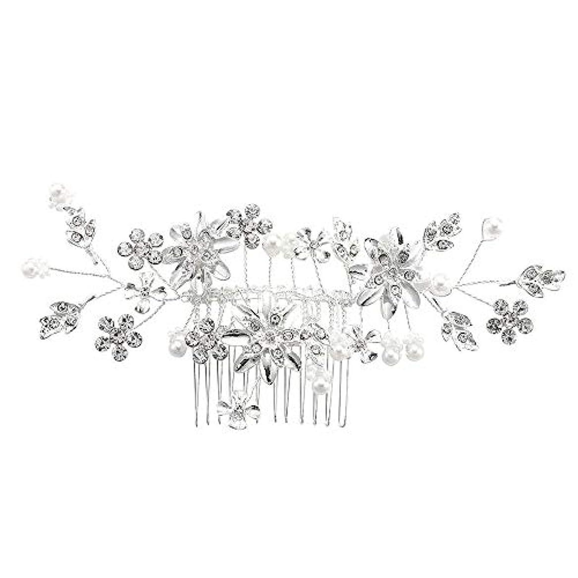 ベアリングサークル記述する比類なき髪の櫛、櫛、合金、ラインストーンの櫛、真珠の髪の櫛、ブライダル髪の櫛、結婚式の髪の櫛
