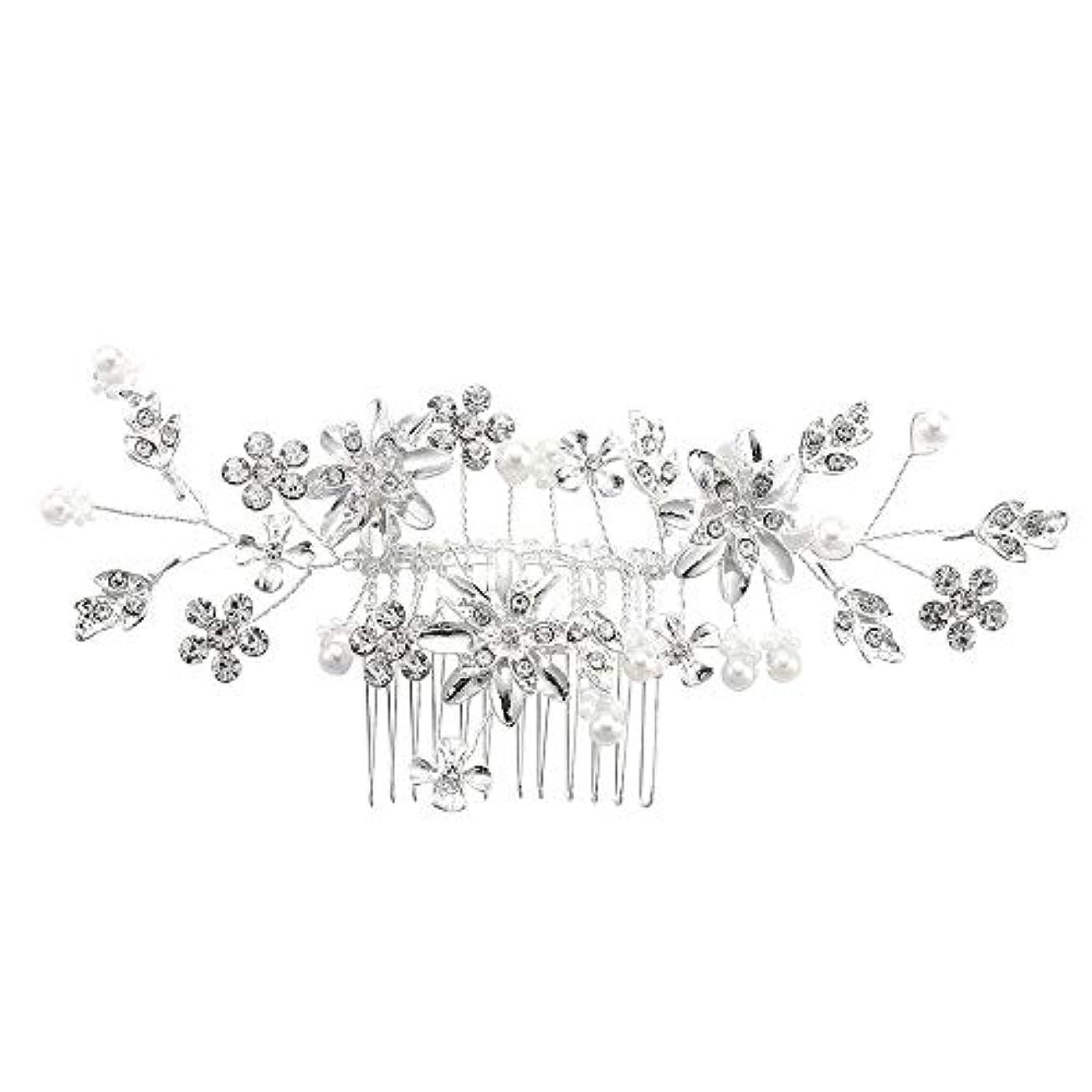 作るバーチャル郵便髪の櫛、櫛、合金、ラインストーンの櫛、真珠の髪の櫛、ブライダル髪の櫛、結婚式の髪の櫛