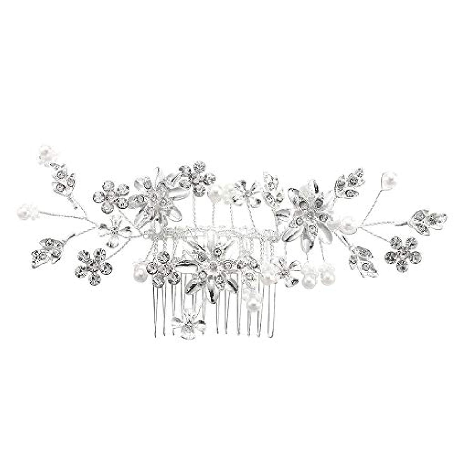 髪の櫛、櫛、合金、ラインストーンの櫛、真珠の髪の櫛、ブライダル髪の櫛、結婚式の髪の櫛