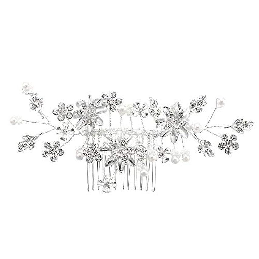 アーティストペフトロリー髪の櫛、櫛、合金、ラインストーンの櫛、真珠の髪の櫛、ブライダル髪の櫛、結婚式の髪の櫛