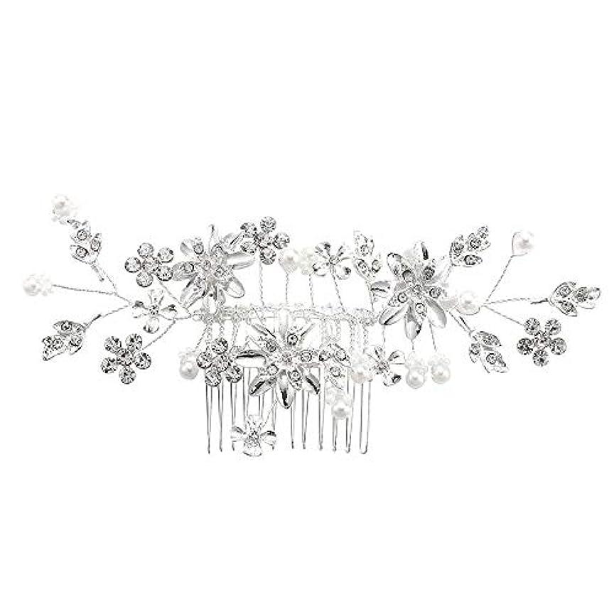 一回踊り子クリーナー髪の櫛、櫛、合金、ラインストーンの櫛、真珠の髪の櫛、ブライダル髪の櫛、結婚式の髪の櫛