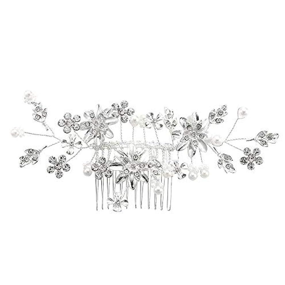 調子美的メナジェリー髪の櫛、櫛、合金、ラインストーンの櫛、真珠の髪の櫛、ブライダル髪の櫛、結婚式の髪の櫛