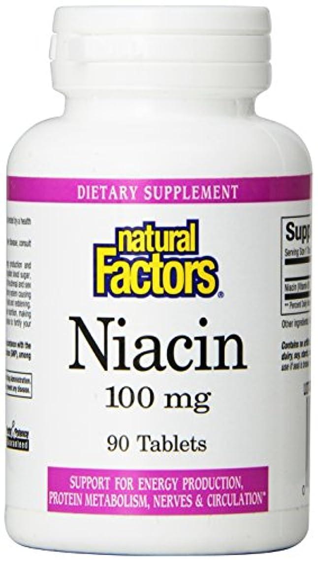 マンモスまたは雑多な海外直送品Vitamin B3 Niacin, 100 mg, 90 Tabs by Natural Factors