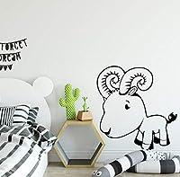Mzznz サイズ:L 43Cm X 45Cmかわいい子羊ウォールステッカー子供用寝室の装飾防水ビニールデカール自己接着防水家の装飾壁画