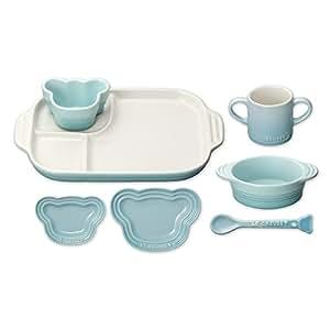 ルクルーゼ ベビー テーブルウェア セット 子供用 食器セット 耐熱 パステルブルー 910427-00-122