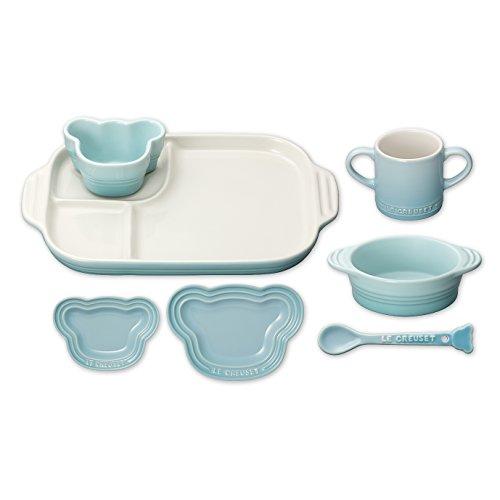ベビー テーブルウェア セット 子供用 食器セット 耐熱 パステルブルー 910427-00-122
