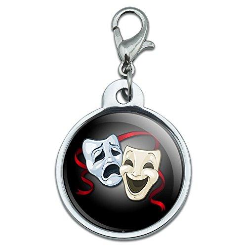 ドラマコメディー悲劇のマスク - 演技劇場シアター小さな金属IDのペットの犬のタグ